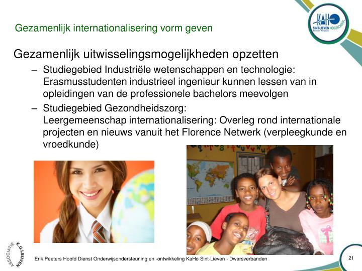 Gezamenlijk internationalisering vorm geven