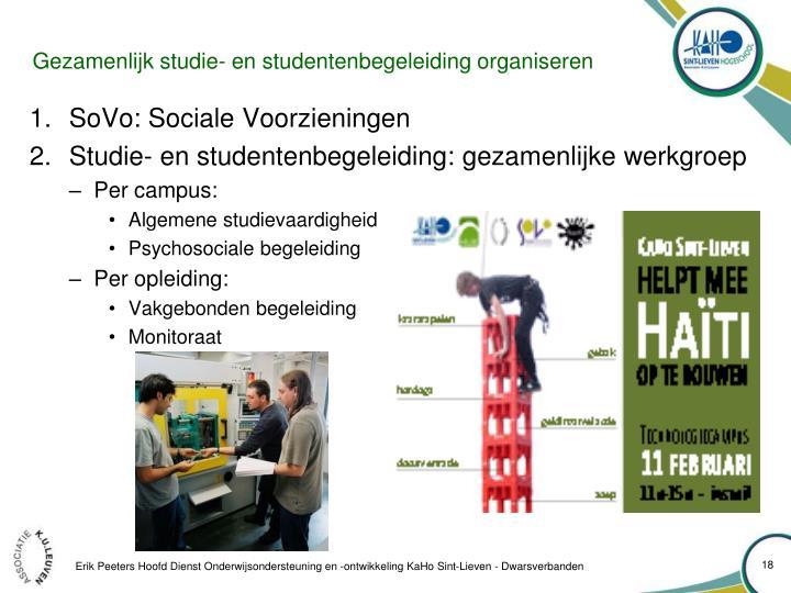 Gezamenlijk studie- en studentenbegeleiding organiseren