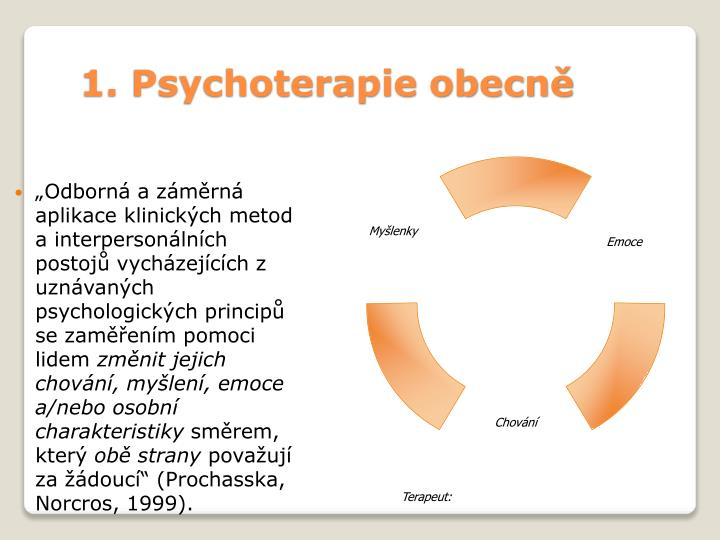 1. Psychoterapie obecně