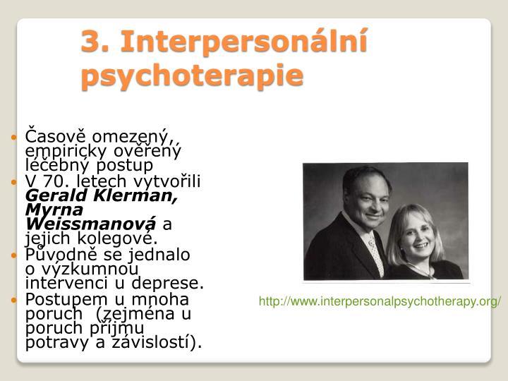 3. Interpersonální psychoterapie