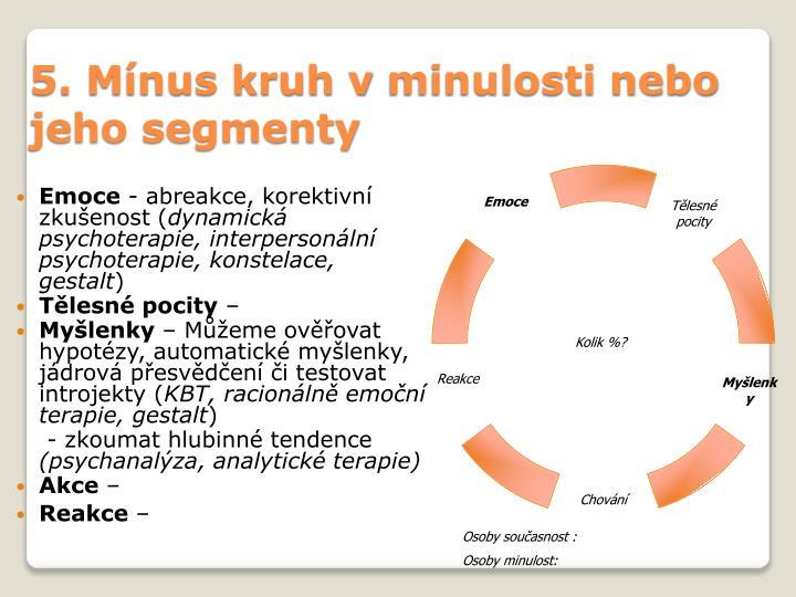5. Mínus kruh vminulosti nebo jeho segmenty