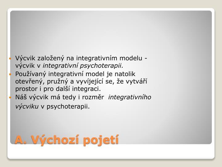 Výcvik založený na integrativním modelu - výcvik v