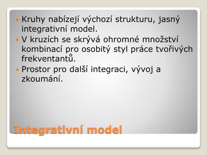 Kruhy nabízejí výchozí strukturu, jasný integrativní model.