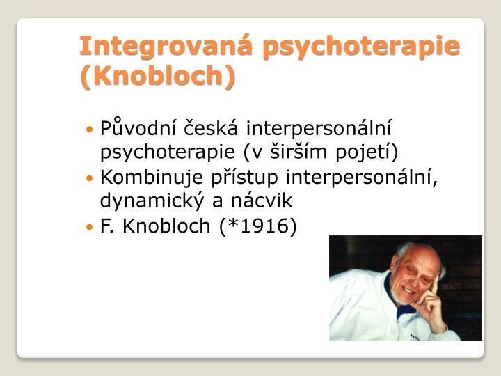 Integrovaná psychoterapie (Knobloch)