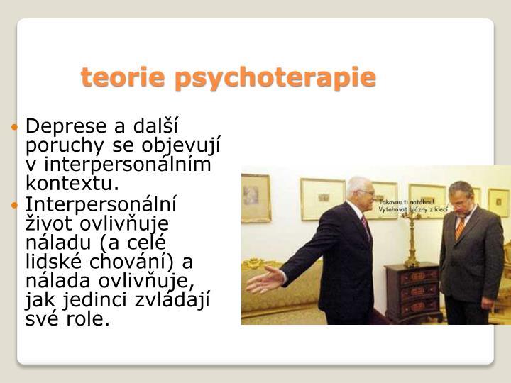 teorie psychoterapie