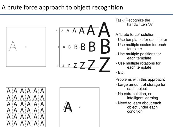 A brute force approach to object recognition