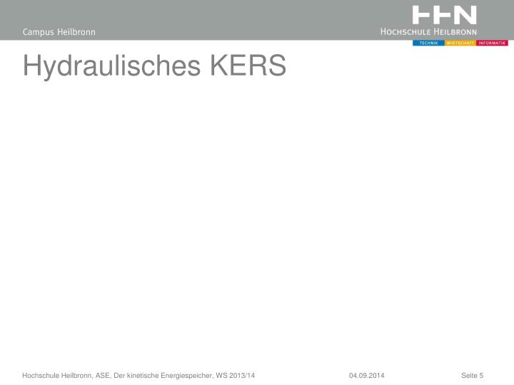 Hydraulisches KERS