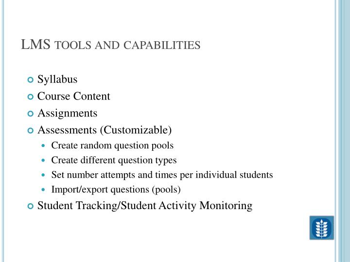 LMS tools and capabilities