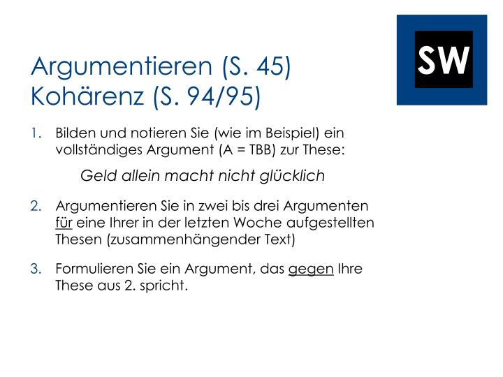 Argumentieren (S. 45)