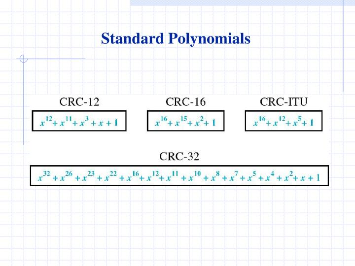 Standard Polynomials