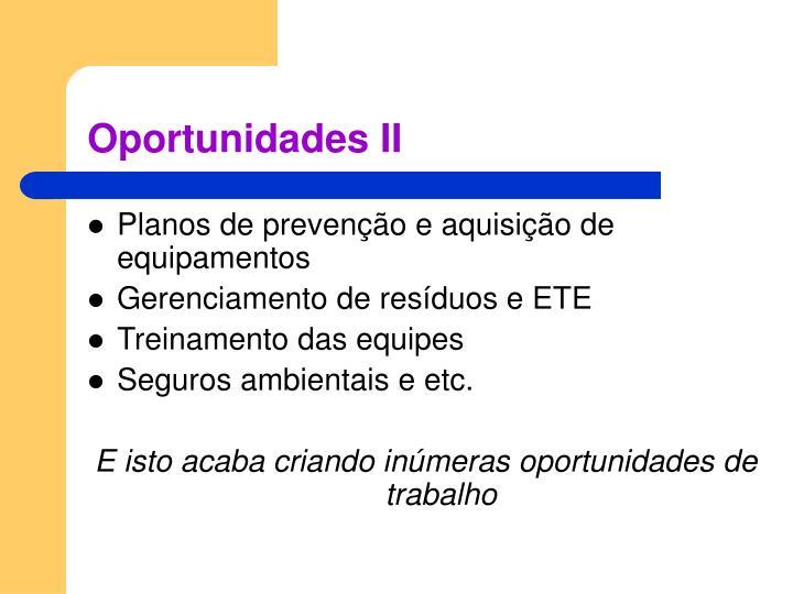Oportunidades II