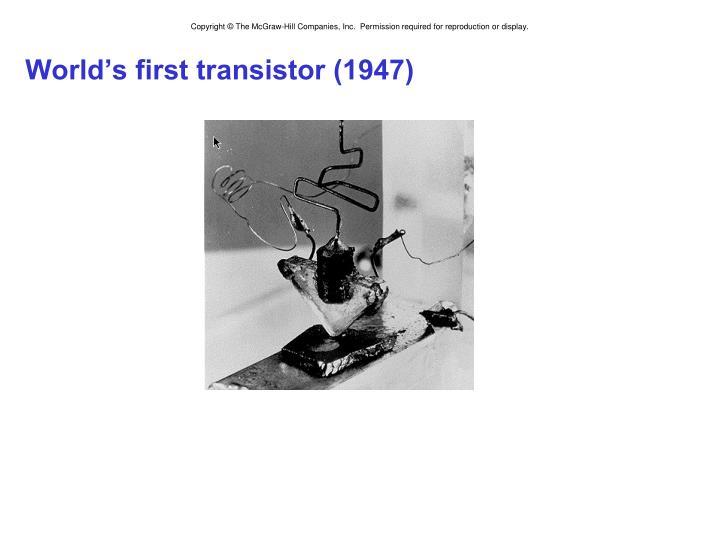 World's first transistor (1947)