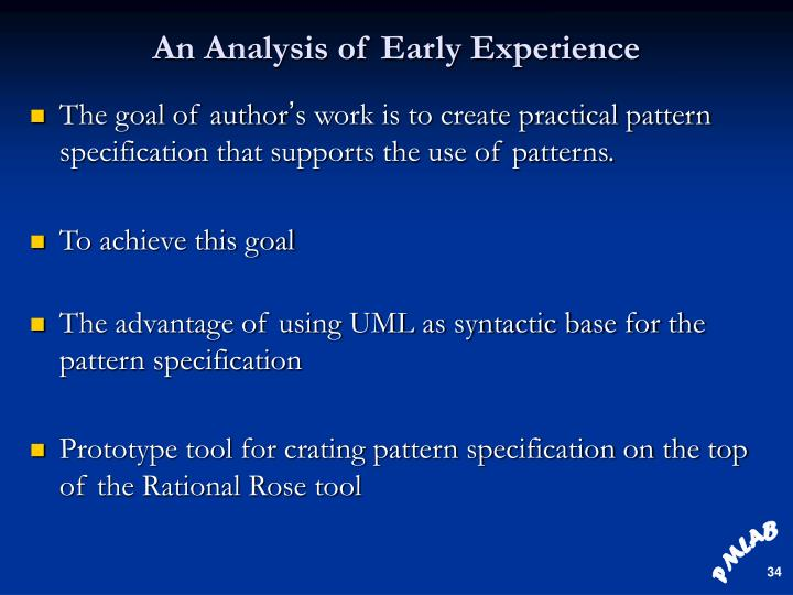 An Analysis of Early Experience