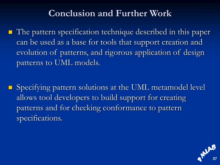 Conclusion and Further Work