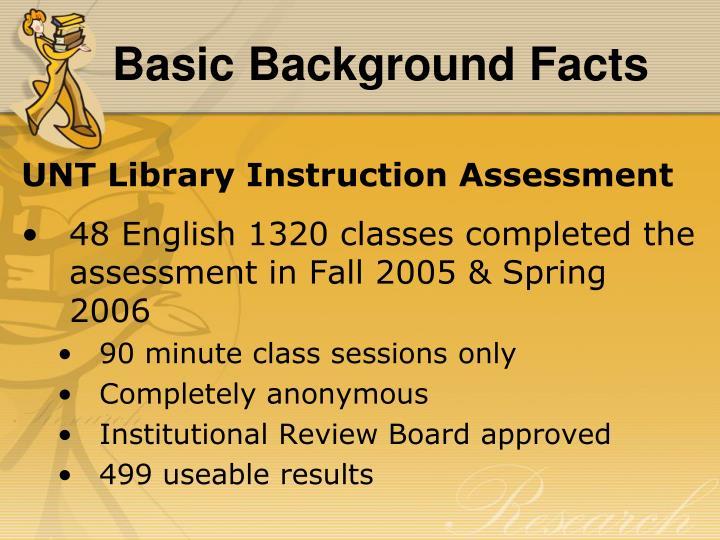 Basic Background Facts