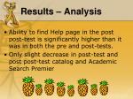 results analysis4