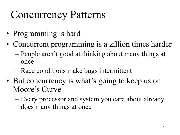 Concurrency Patterns