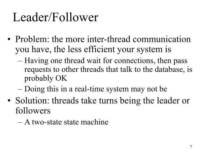 Leader/Follower