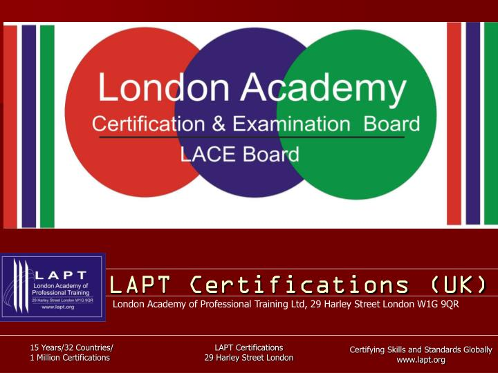 Lapt certifications uk