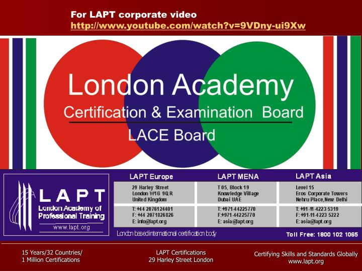 For LAPT corporate video