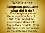 what did the congress pass and what did it do