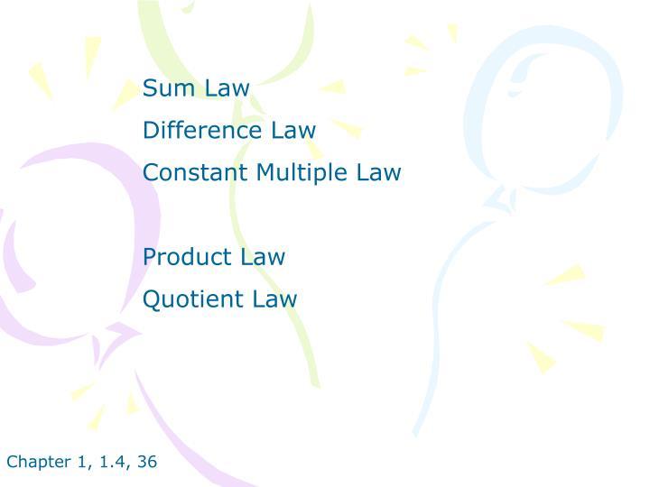 Sum Law