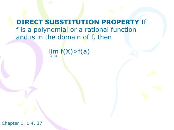 DIRECT SUBSTITUTION PROPERTY