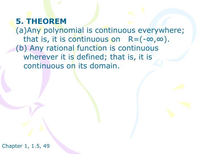 5. THEOREM