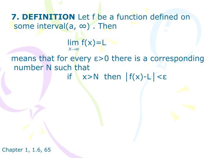 7. DEFINITION