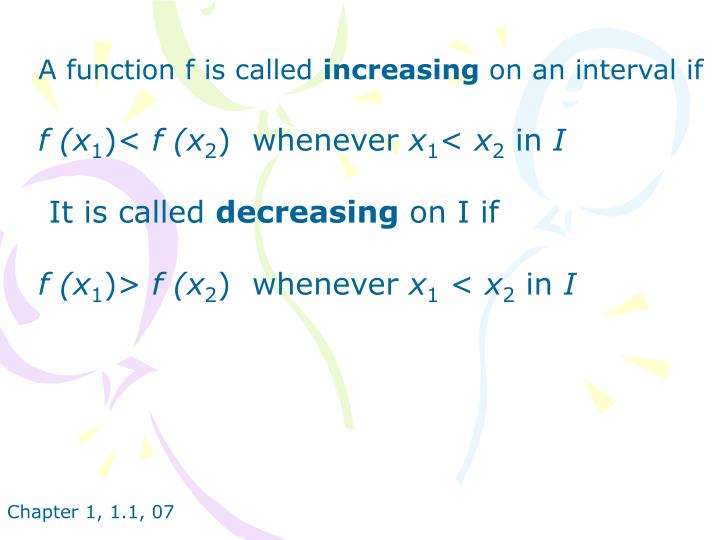 A function f is called