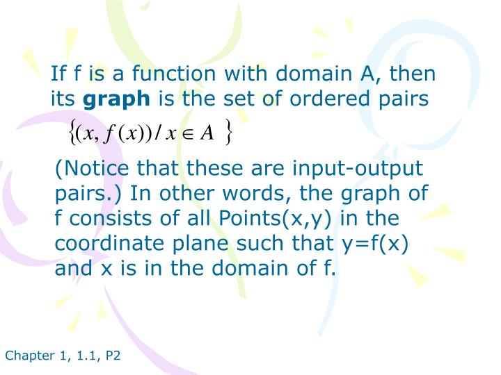 If f is a function with domain A, then its