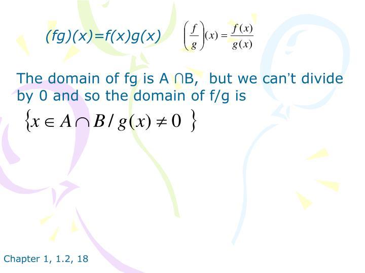 (fg)(x)=f(x)g(x)