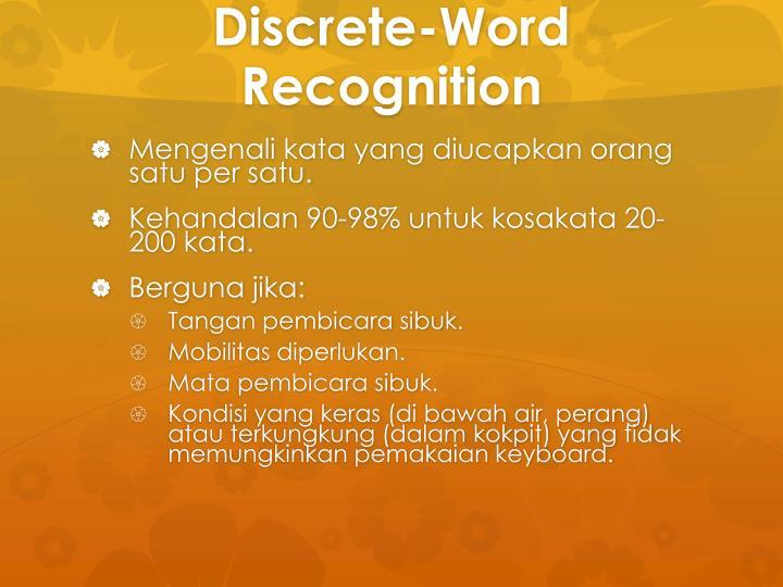 Discrete-Word Recognition