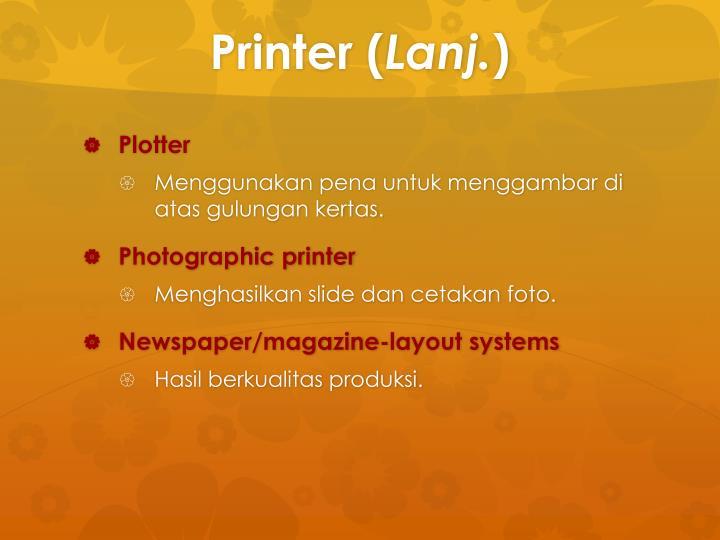 Printer (
