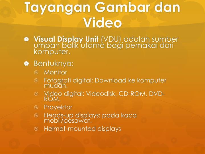 Tayangan Gambar dan Video