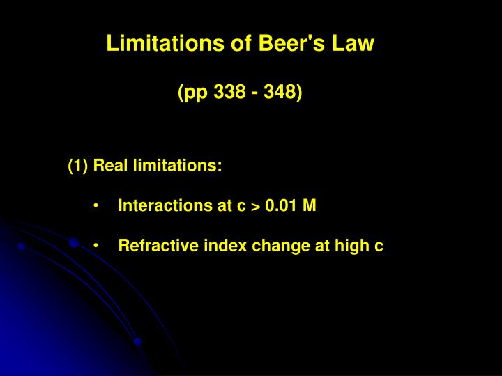 Limitations of Beer's Law