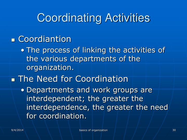 Coordinating Activities