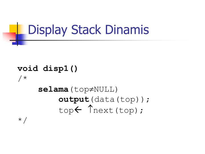 Display Stack Dinamis
