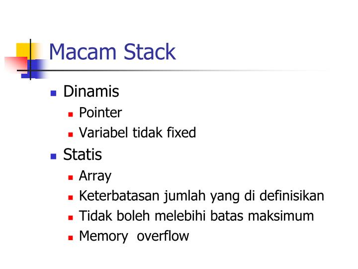 Macam Stack