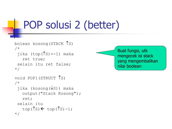 POP solusi 2 (better)