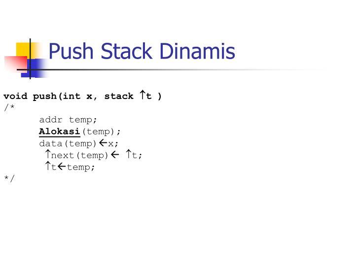 Push Stack Dinamis