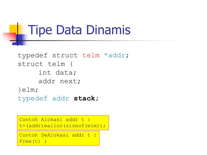 Tipe Data Dinamis