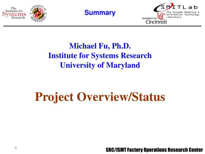 Michael Fu, Ph.D.