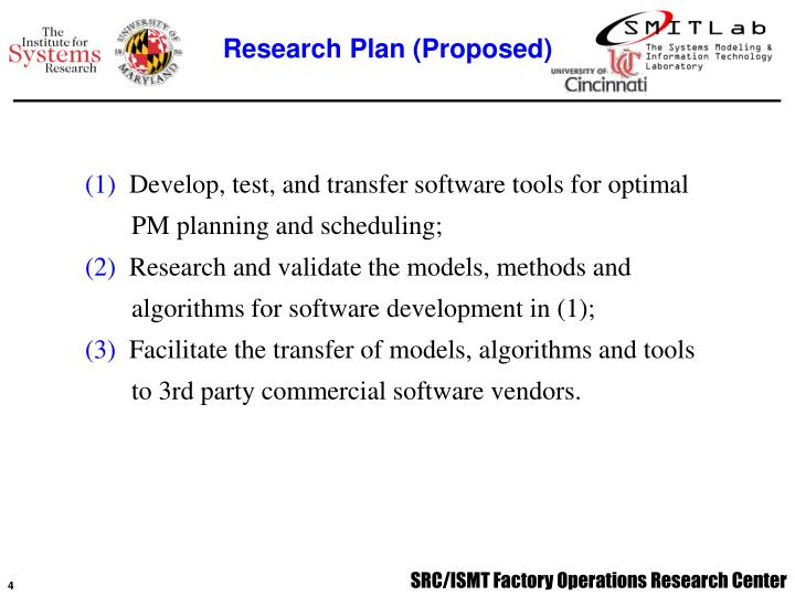 Research Plan (Proposed)