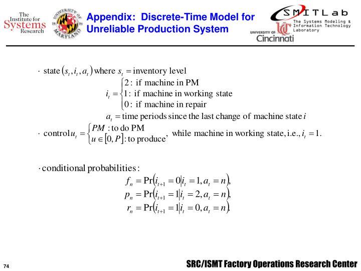 Appendix:  Discrete-Time Model for