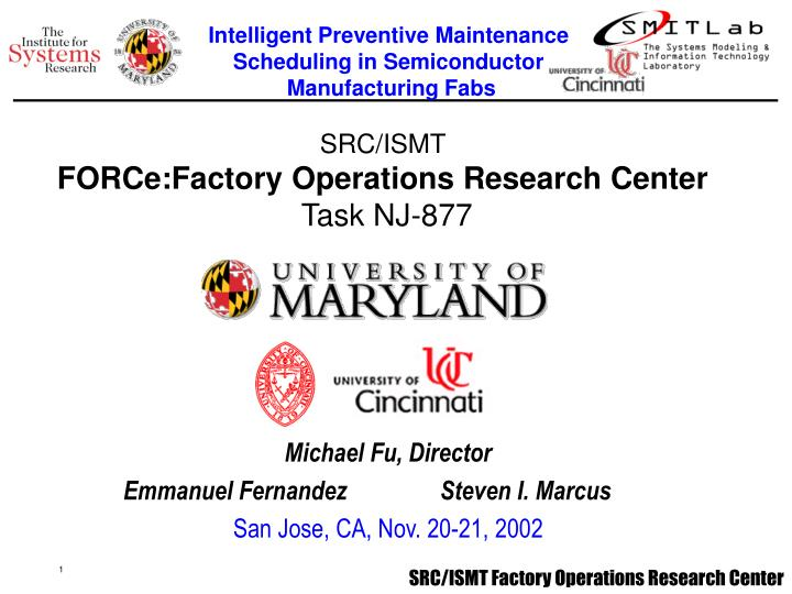 src ismt force factory operations research center task nj 877