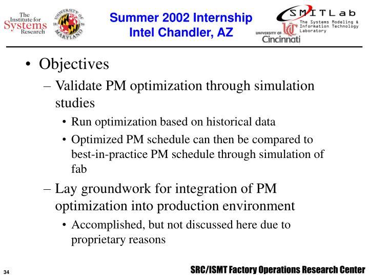 Summer 2002 Internship