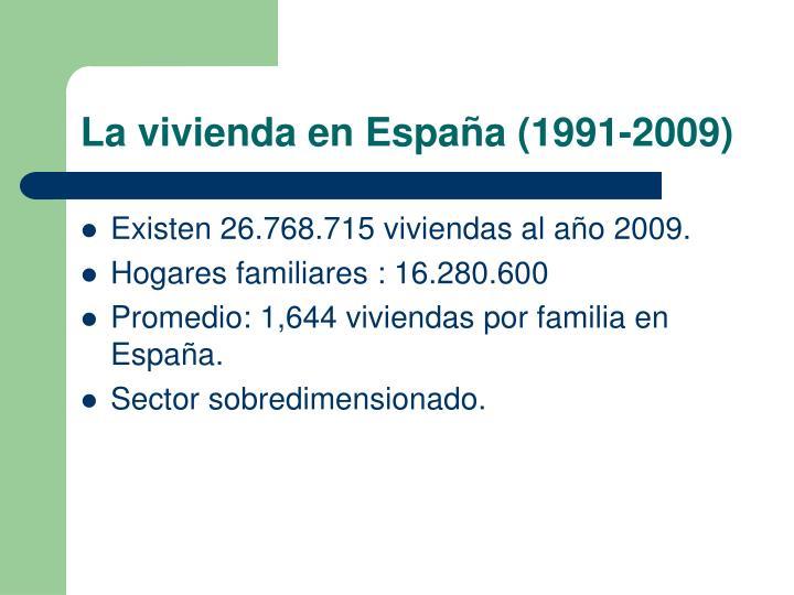 La vivienda en España (1991-2009)