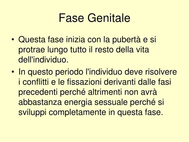 Fase Genitale