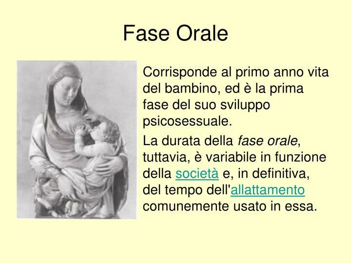 Fase Orale